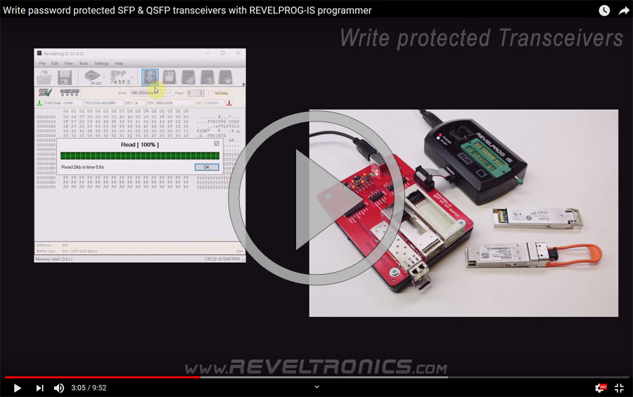Writing password protected SFP transceivers