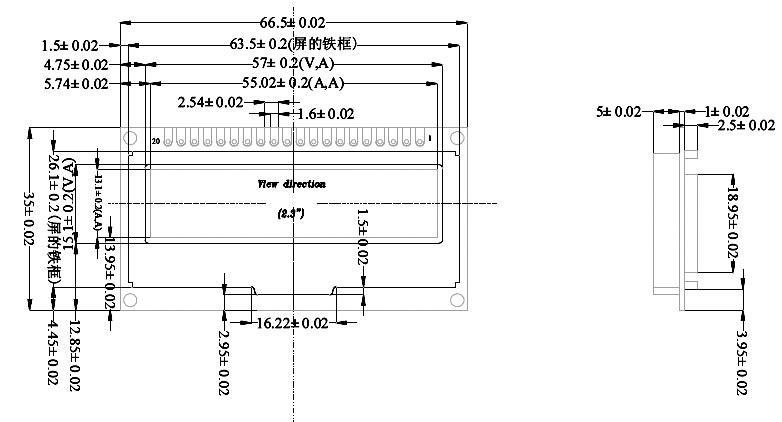 graphic oled for utcomp  122x32 pix